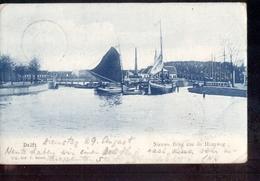 Delft - Nieuwe Brug Haagweg Boot - 1905 - Grootrond - Delft