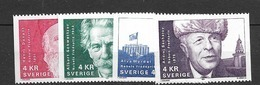 1991 MNH Sweden,Michel 1696-99, Postfris - Sweden