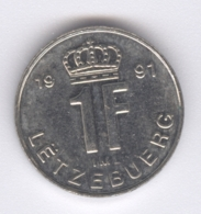 LUXEMBOURG 1991: 1 Franc, KM 63 - Luxembourg