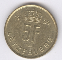 LUXEMBOURG 1989: 5 Francs, KM 65 - Luxembourg