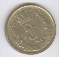 LUXEMBOURG 1987: 5 Francs, KM 60 - Luxembourg