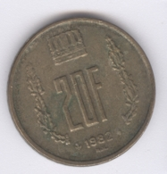 LUXEMBOURG 1982: 20 Francs, KM 58 - Luxembourg
