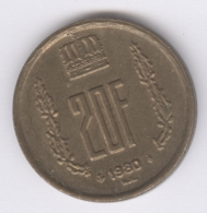 LUXEMBOURG 1980: 20 Francs, KM 58 - Luxembourg