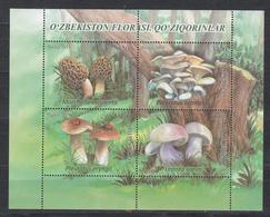 Uz 1399-1402Bl.101 Uzbekistan Usbekistan 2019 Mushrooms - Usbekistan