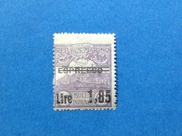 1926 SAN MARINO FRANCOBOLLO NUOVO STAMP NEW MNH** ESPRESSO SOPRASTAMPATO 1,85 SU 60 - Express Letter Stamps