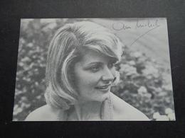 Artiste ( 632 )  Artiest Zangeres  Zanger ( Geen Postkaart ) Dédicasse Signature Handtekening : Ann Michel - Chanteurs & Musiciens