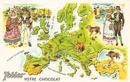Lot De 10 Cartes Publicité Du Chocolat TOBLER - Le Tour Du Monde De TOBY - Chocolat