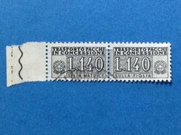 1960 ITALIA PACCHI IN CONCESSIONE 140 LIRE FRANCOBOLLO USATO ITALY STAMP USED - Pacchi Postali