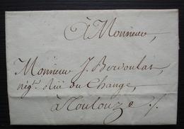 1775 Port Au Prince ??? (Haiti) Lettre Pour J Berdoulat Négociant à Toulouse - 1701-1800: Précurseurs XVIII