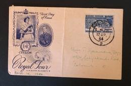 CEYLON / SRI LANKA First Day Of Issue 10-04-1954 Royal Tour Elizabeth II - Sri Lanka (Ceylon) (1948-...)