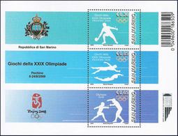 Olympics 2008 - Fencing - SAN MARINO - S/S MNH - Ete 2008: Pékin