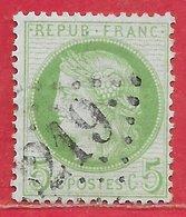 France N°53 Cérès 5c Vert-jaune Sur Azuré 1872 O - 1871-1875 Cérès