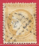 France N°55 Cérès 15c Bistre (gros Chiffres) 1873 O - 1871-1875 Ceres