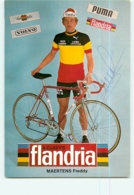 Freddy MAERTENS, Autographe Manuscrit, Dédicace . 2 Scans. Flandria - Radsport