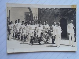 D170195 Old Photo  Ca 1950  - UK Royal Navy Funeral Ceremony - Malta  - E.V. Bosco  Hamrun - Lieux