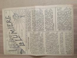 1936 JOURNAL LA LUMIERE SECTION DU GAZ  SAINT DENIS  / PPF / PARTI POPULAIRE FRANCAIS / DORIOT / ANTI COMMUNISME E33 - Documenti Storici