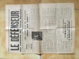 1936 JOURNAL LE DEFENSEUR DES METALLOS DE L'USINE RENAULT / PPF  PARTI POPULAIRE FRANCAIS / DORIOT / ANTI COMMUNISME E33 - Documentos Históricos