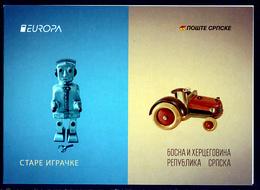 """BOSNIA/Bosnien Serbische Rep. SRPSKA  EUROPA 2015 """"Old Toys"""" Booklet** - 2015"""