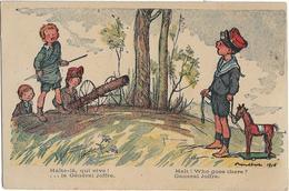 ILLUSTRATEUR POULBOT 1915 - HALTE-LA QUI VIVE ! ...LE GENERAL JOFFRE-HALT ! WHO GOES THERE ? GENERAL JOFFRE - Enfants .. - Poulbot, F.