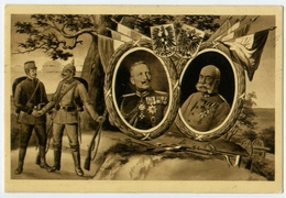 Francesco Giuseppe Asburgo Imperatore D'Austria E Kaiser Gugliemo Hoenzollern Di Prussia Esercito  RARA - Case Reali