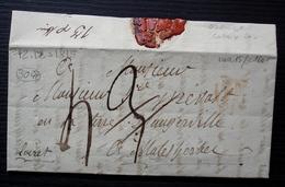 1815 Lettre Pour Le Prévost En La Terre D'Angerville à Malesherbes (Loiret) Cachet P Orange (Paris) - Marcophilie (Lettres)