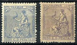 Cuba Española Nº 28/9 En Nuevo - Kuba (1874-1898)