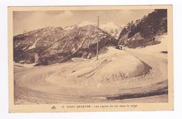05 Mont Genèvre Ou Montgenèvre Vers Briançon N°10 Les Lacets Du Col Sous La Neige En 1935 VOIR ZOOM AUTO Marque ? - Briancon
