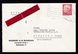 Heuss 80 Pfg. Auf Firmen-Eilbrief (Herbert A.H. Behrens, Hamburg) Ab Hamburg  - [7] Federal Republic