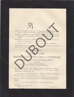 Doodsbrief Notaire Jules-Xavier BARBE D'OYENBRUGGE Et OPBERGE °1844 Grimbergen †1923 Wwe Aline SROYEN (H95) - Todesanzeige