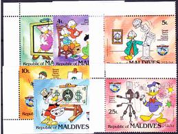 Malediven - 50 Jahre Donald Duck (MiNr: 1073/78 ) 1984 - Postfr. MNH - Maldives (1965-...)