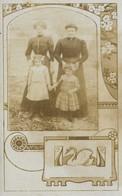 ART DECO - ART NOUVEAU - Duo De Femmes Et Fillettes Dont L'une Est Née En 1889 MODE Début 1900 PHOTO Carte - Anonyme Personen