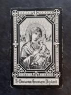 Doodsprentje Genoveva-Francisca Berg. °Molendorp, +Molendorp. Echtgen. Schillewaert. - Décès
