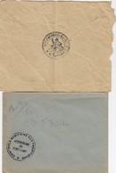 2 LETTRES AERODROME DE FORT-LAMY CONTROLE SANITAIRE AUX FRONTIERES. SECTION D'INFIRMIERS MILITAIRES / 2 - Postmark Collection (Covers)