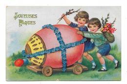 CPA JOYEUSES PAQUES / ENFANTS ET OEUF - Pâques
