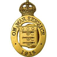 United Kingdom , On War Service Badge, Médaille, 1915, Excellent Quality - Militaria