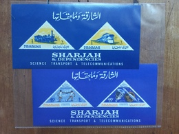 EMIRATI ARABI - SHARJAH E DIPENDENZE - Trasporti E Telecomunicazioni - 2 BF Nuovi ** + Spese Postali - Sharjah