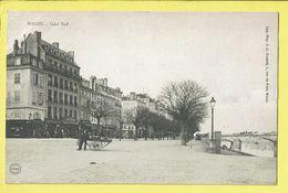 * Macon (Dép 71 - Saone Et Loire - France) * (Imp Pap J.A. Durand) Quai Sud, Pont, Animée, Rare, Café, Char, Old - Macon