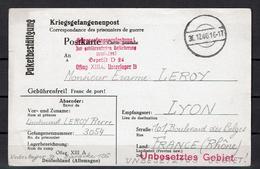 1940 3.Reich Zensierte Kriegsgefangenenpost Oflag XIIIA Nach Frankreich - Germania