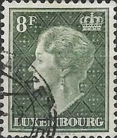 LUXEMBOURG 1948 Grand Duchess Charlotte - 8f - Green FU - Usati