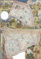 2 CPM - 3 Eme Et 20 Eme - Carte  Les  Arrondissement De Paris Ilustrés - Frankrijk
