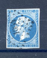 France N°14 - OBL - PC 1064 (Cussey-les-Forges) - (F501) - 1853-1860 Napoleon III