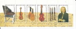 BELGIUM BELGIE 2000 Booklet Music Instruments Bach Mi MH42 MNH (**) B123 - Booklets 1953-....