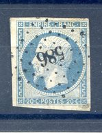 France N°14 - OBL - PC 586 (Callas Du Var) - (F504) - 1853-1860 Napoleon III
