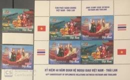 Vietnam Viet Nam MNH Specimen Stamps & Sheetlet 2016 : Join Issued With Thailand / Water Puppet / Dance (Ms1069) - Vietnam