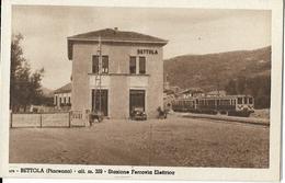 7-BETTOLA(PIACENZA)ALT.M.329-STAZIONE FERROVIA ELETTRICA - Gares - Avec Trains