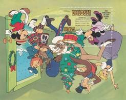 Lesotho, 1982, Christmas, Miniature Sheet MNH ** Mickey Mouse, Minnie Mouse - Lesotho (1966-...)