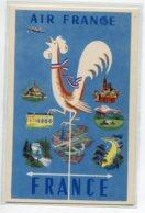 PUBLICITE AIR FRANCE Tirage 1951 Illustrateur JL M BLAYE Coq Tricolore  Girouette    D19 2019 - Werbepostkarten