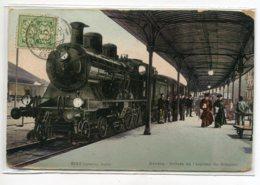 SUISSE GENEVE Arrivée Train Expresse Du Simplon Locomotive Gare Voyageurs Quai 1906 écrite No 8182    D19  2019 - GE Genève