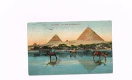 Village & Pyramides.Expédié à Gand (Belgique) - Cairo