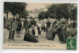 29 Coin De Marché ( Localisable )  Aux Vaches En Bretagne LL 16 Moeurs Et Types Bretons  - Timbrée   D19 2019 - France